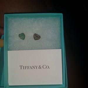 Tiffany Mini heart tag earrings